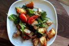asparagus & arugula panzanella
