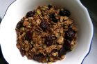 pistachio, sesame seed & dried cherry granola