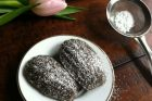 chocolate pistachio madeleines {day 182}