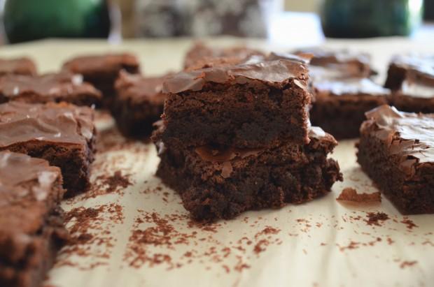 Peppermint Fudge Brownies | get the recipe at www.injennieskitchen.com