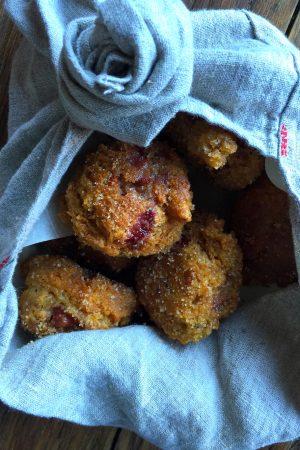 Strawberry Buttermilk Doughnuts | Get the recipe at In Jennie's Kitchen
