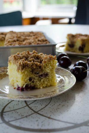 Sweet Cherry Coffee Cake | In Jennie's Kitchen