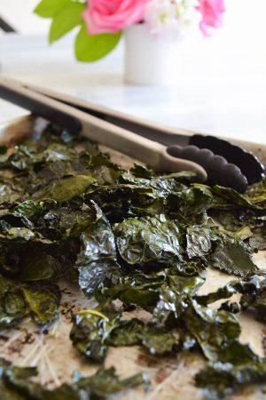 Crispy Baked Kale Chips | In Jennie's Kitchen