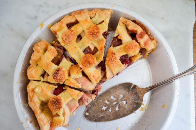 Apple Strawberry Cardamom Pie | In Jennie's Kitchen