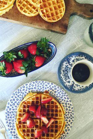 Honey Vanilla Waffles | In Jennie's Kitchen