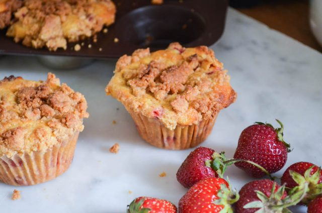 Strawberry Ginger Crumb Muffins   In Jennie's Kitchen