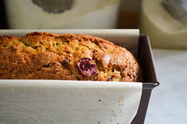 Chocolate Cherry Banana Bread Recipe | In Jennie's Kitchen