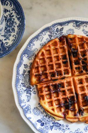 Blueberry Waffles Recipes {dairy free} | In Jennie's Kitchen