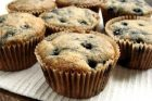 lemon blueberry muffins + half white flour