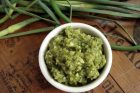 garlic scape pesto—with a twist