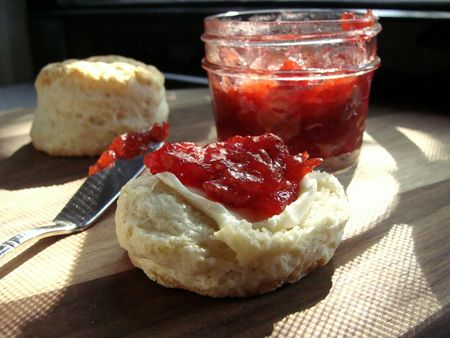 strawberry jam and biscuits - In Jennie's Kitchen