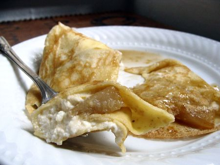 pear ricotta crepes filling