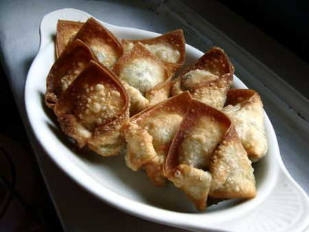 friend vegetable wontons recipe