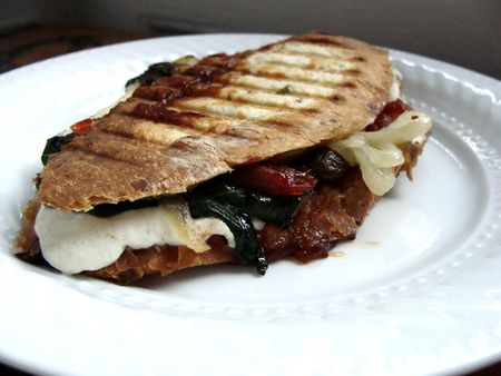 tomato jam, mozzarella & spinach panini - In Jennie's Kitchen