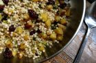 israeli couscous with squash, dried cherries & pistachios