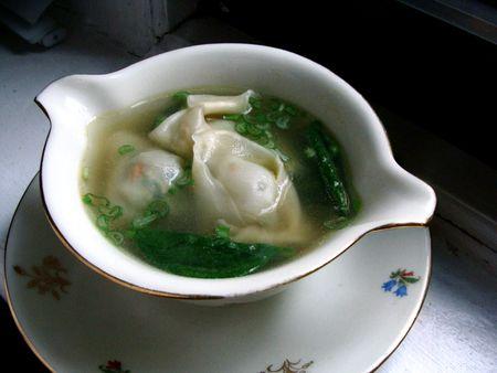 homemade vegetable wonton soup
