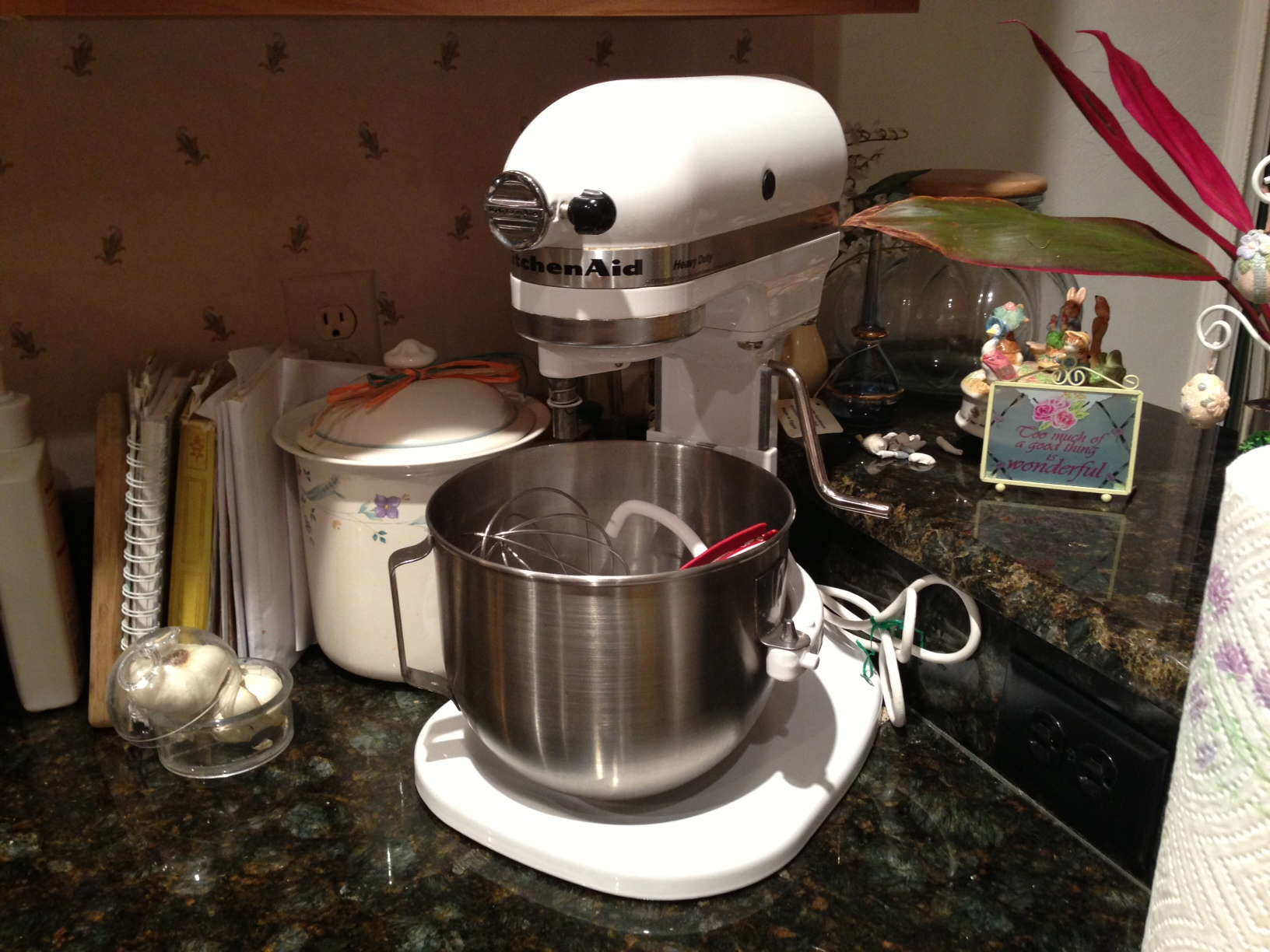 This is auntie's original stand mixer—still looks like new!