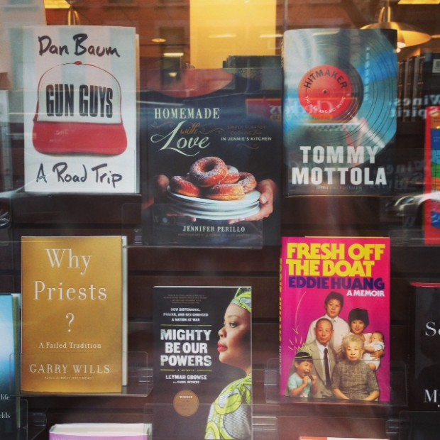 The front window of Barnes & Noble!