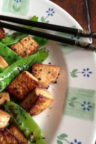 Tofu with Snow Peas