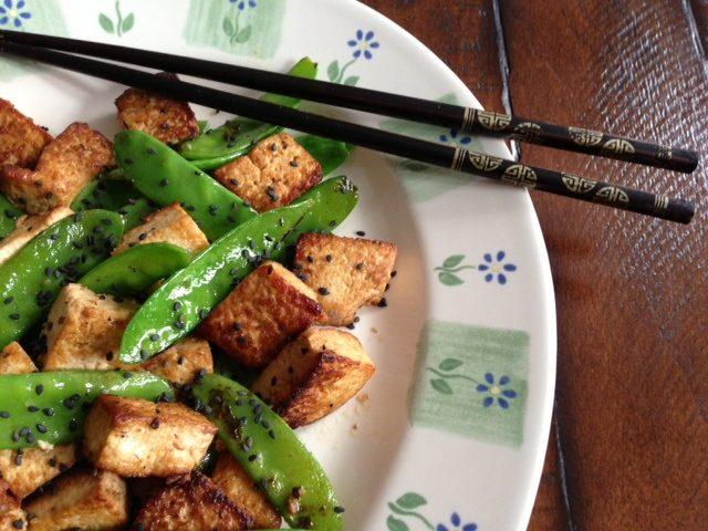 Tofu with Snow Peas