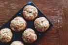peach allspice muffins