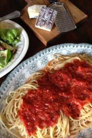 Slow Simmered Tomato Sauce at www.injennieskitchen.com