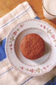 crispy, chewy gingersnaps recipe at www.injennieskitchen.com