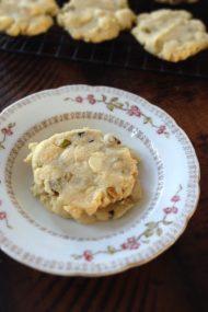 chewy white chocolate & pistachio cookies | www.injennieskitchen.com