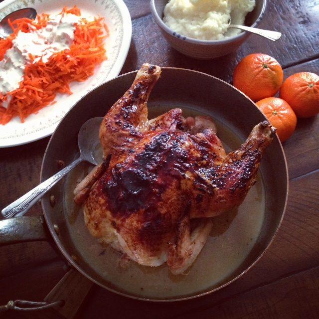simple roast chicken, in just an hour | www.injennieskitchen.com