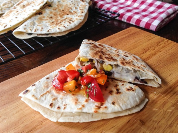 Corn & Black Bean Quesadillas | www.injennieskitchen.com