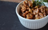 sweet & savory candied walnuts