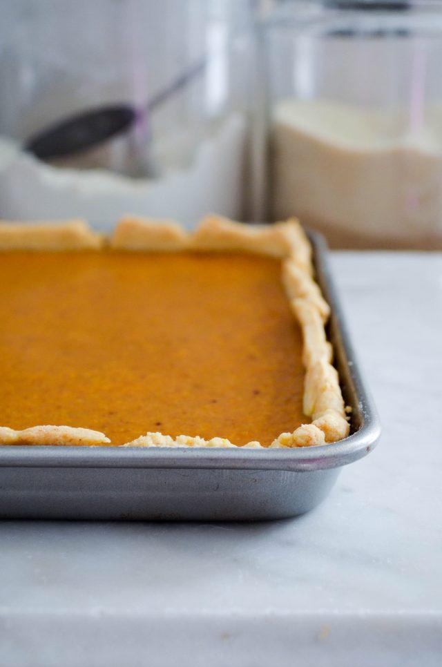Pumpkin Slab Pie | In Jennie's Kitchen