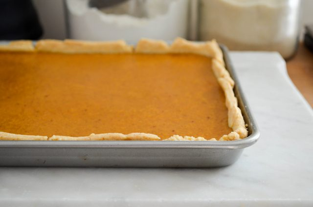 Pumpkin Slab Pie | In Jennie's Kitchen