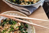 kale, almond & shiitake mushroom fried rice