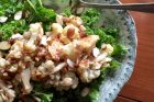 wilted kale salad & warm shallot vinaigrette