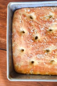 Use up your leftover mashed potatoes to make this light & airy focaccia, perfect for making turkey sandwiches with the rest of your leftovers.