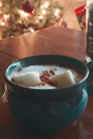 Gingerbread Hot Cocoa | get the recipe at www.injennieskitchen.com