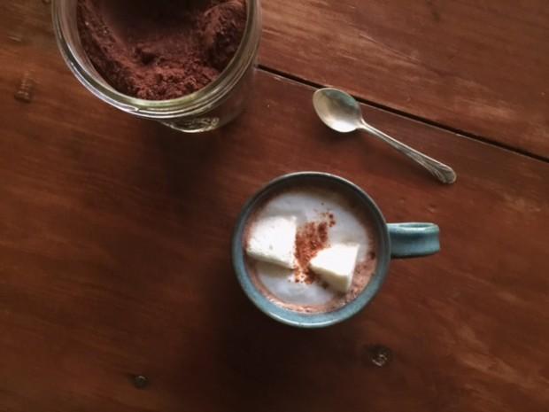 Gingerbread Hot Cocoa | get the recipe at www.injennieskitchen.com