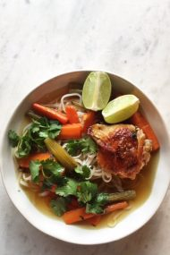 Slow Roasted Chicken Soup, also known as the BEST chicken soup, ever, in my house. | www.injennieskitchen.com