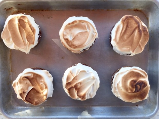 Best Marshmallow Frosting, and only takes 7 minutes to make! | get the recipe at www.injennieskitchen.com
