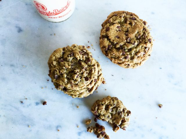 These Buckwheat Chocolate Chip Cookies are a new family favorite. | In Jennie's Kitchen