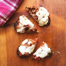 Finder's Feast: Meatball Parmigiana Tartine {Video}