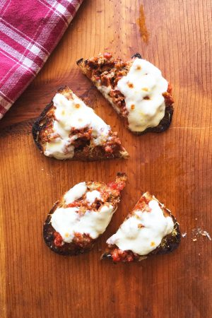 Meatball Parmigiana Tartine | In Jennie's Kitchen