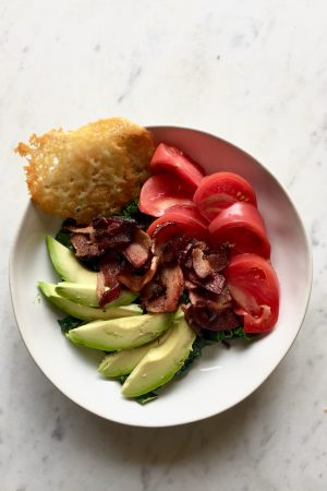 A classic sandwich (and my all-time favorite) turned into a salad, this BLT Salad is a lunch time favorite.  In Jennie's Kitchen