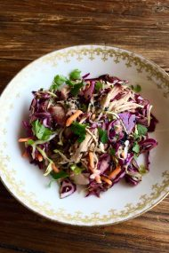 Pulled Pork & Cabbage Salad | In Jennie's Kitchen