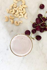 Cherry Cashew Milk | In Jennie's Kitchen