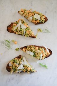 Chickpea Fennel Tartine | In Jennie's Kitchen