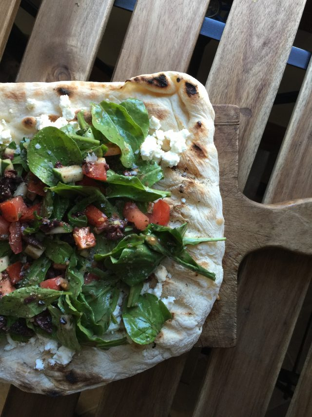 Grilled Mediterranean Pizza | In Jennie's Kitchen