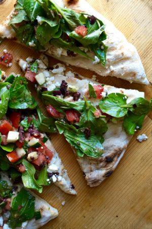 Grilled Mediterranean Pizza | In Jennie's Kitchen