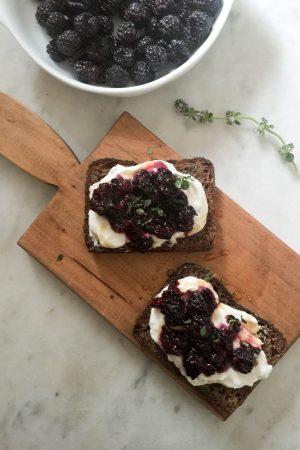 Black Raspberry Bruschetta | In Jennie's Kitchen